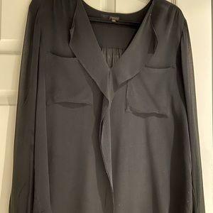 babaton 100% silk shear blouse